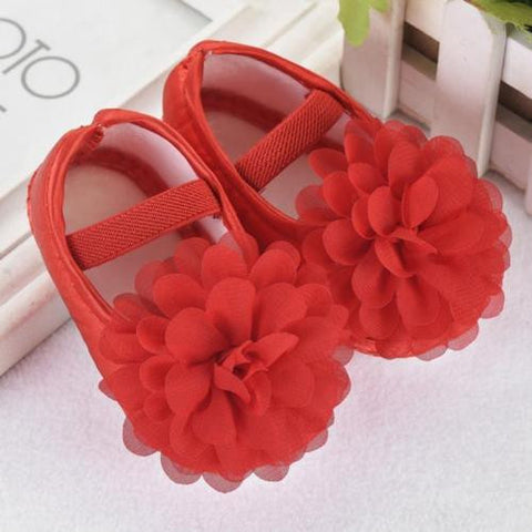 Red Soft Baby Crib Shoes