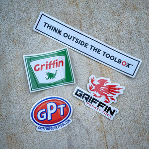 Griffin Pocket Tool - Sticker Swag 4-Pack
