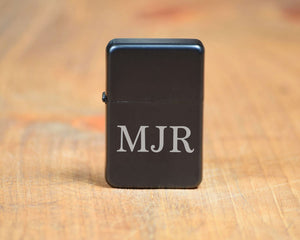 Black Matte Lighter with Gift Tin INITIALS