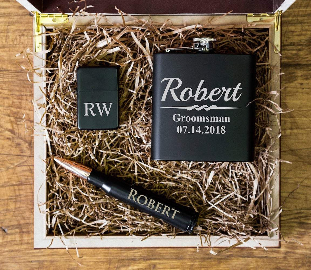 Bullet Bottle Opener Groomsmen Gift Set