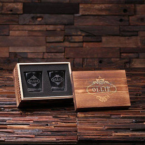 Double Whiskey Glass Groomsmen Gift Set
