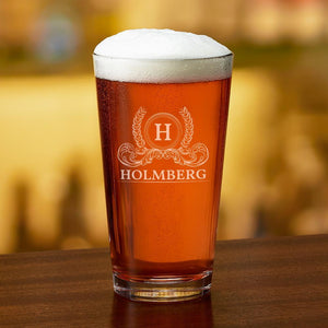 Engraved Party Pint Glass Holmberg