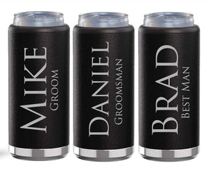 Groomsmen Skinny Can Holder Koozies