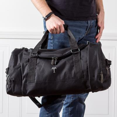 2ff0022676 Personalized Black Deluxe Sports Duffle Bag – Groomsday
