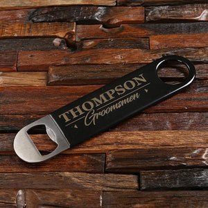 Personalized Bottle Opener & Pouch Set