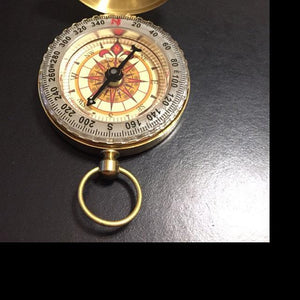 Personalized Brass Compass