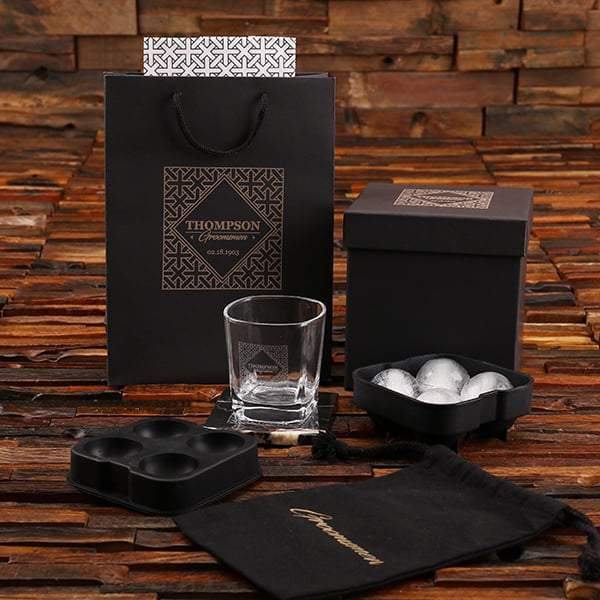 Personalized Groomsmen Glass Gift Set