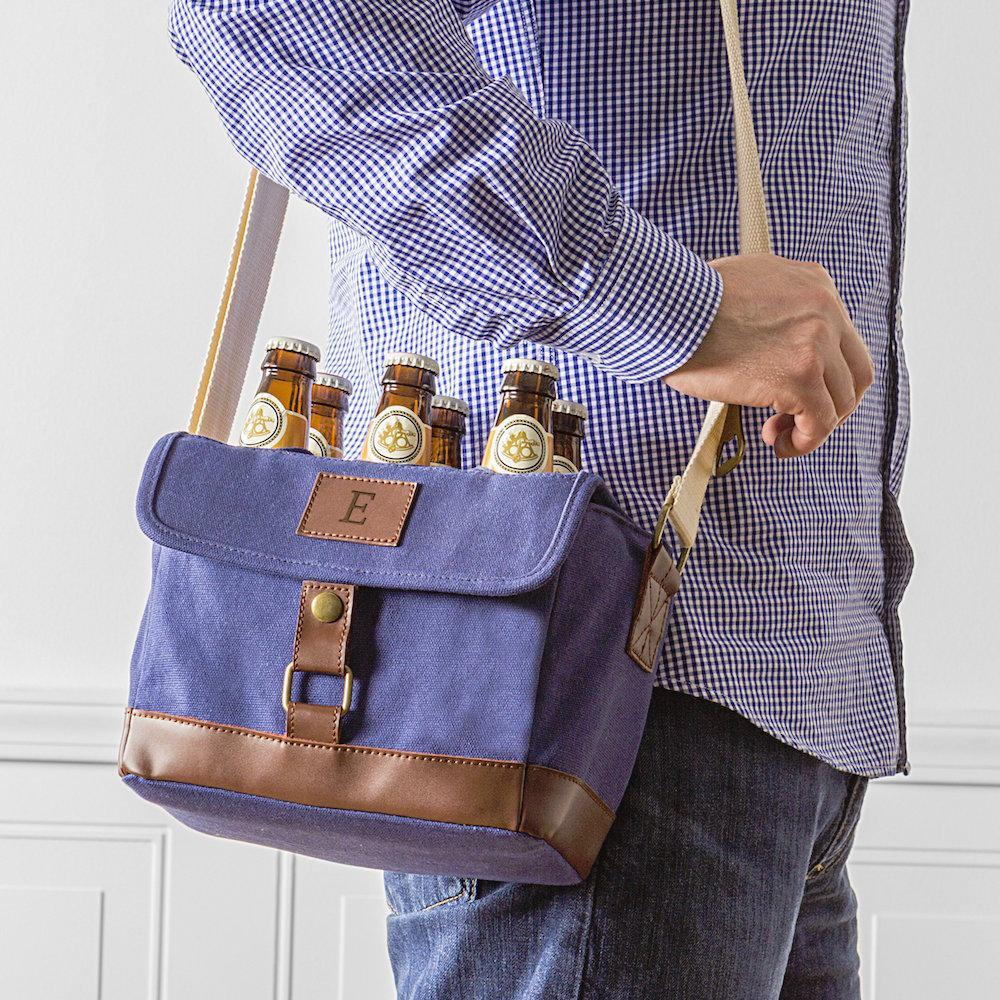 Personalized Insulated Canvas Bottle Carrier