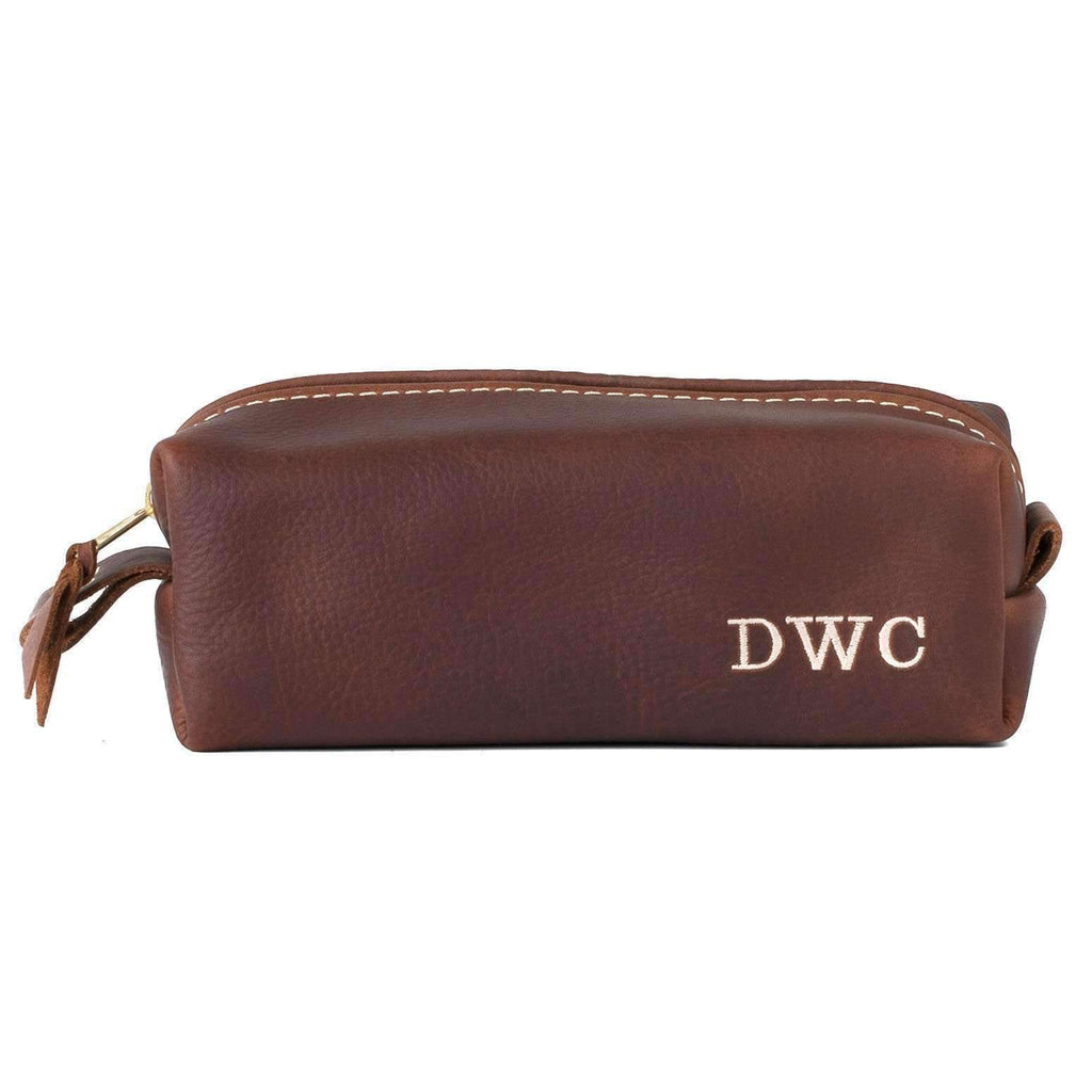 Personalized Leather Dopp Kit & Toiletry Bag X-LARGE / COGNAC