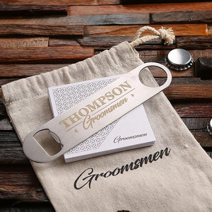 Personalized Stainless Steel Bottle Opener