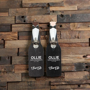 Personalized Suit Up Wall Mount Bottle Opener