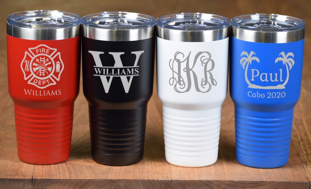 Personalized Tumbler 30 OZ / NAVY BLUE