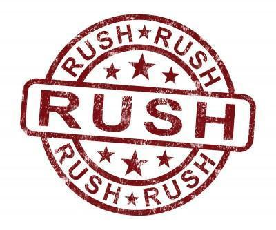 Rush Production Standard (separate from shipping)