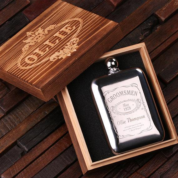 The Gent - Customized Stainless Steel Flask With Box