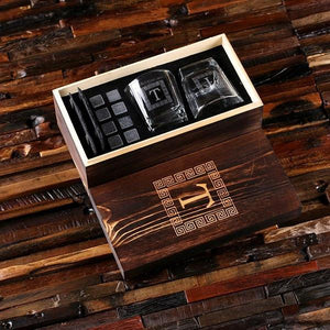The ManPack - Whiskey Glass Gift Set Engraved