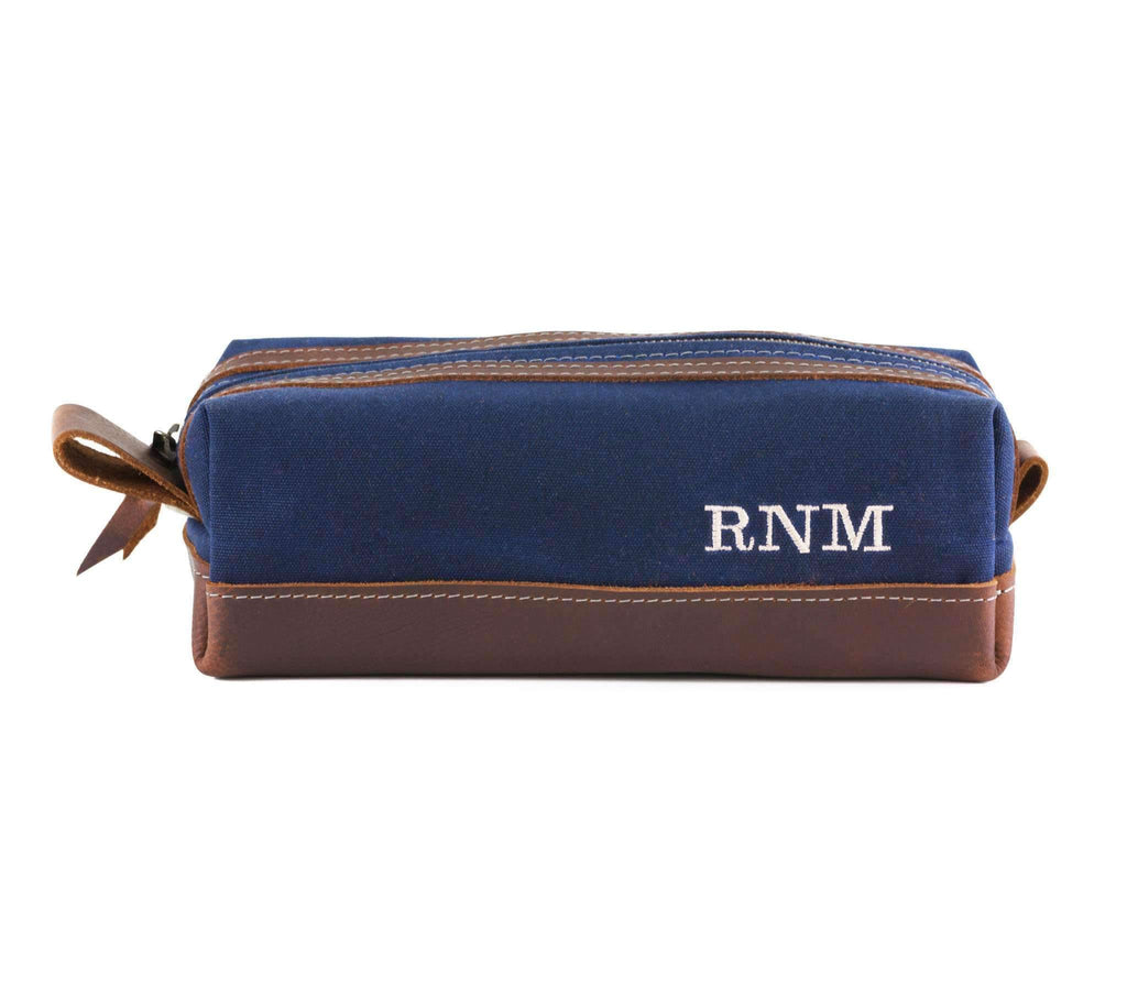Wax Canvas Toiletry Travel Bag / Dopp Kit Standard / Blue