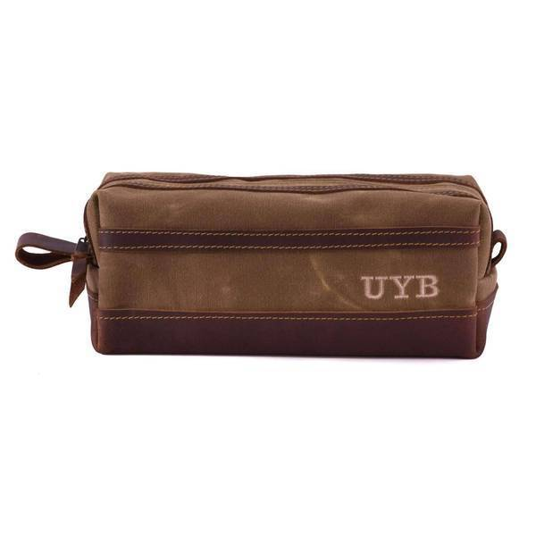 Wax Canvas Toiletry Travel Bag / Dopp Kit Standard / Brown