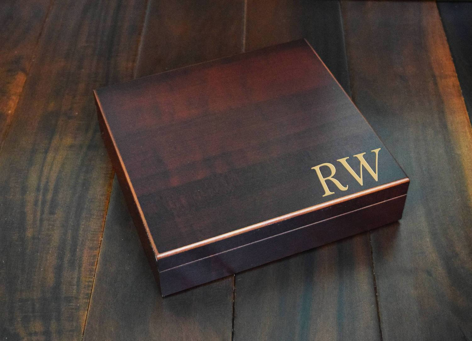 Wooden Groomsmen Boxes With Humidifier