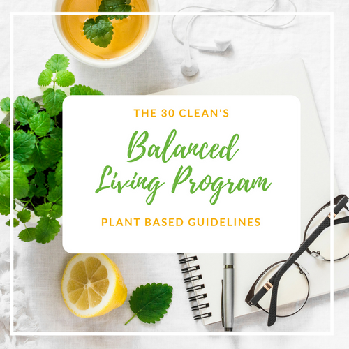 The Balanced Living Program -- Plant Based Guidelines