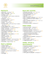 3 Day Vegan Meal Plan (Shopping List)