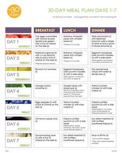Fall Meal Plan (Weekly Planner)