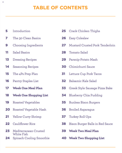 Meals Made Simple (Table of Contents)
