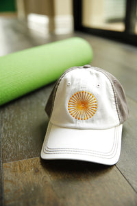 T30C Baseball Cap - White on Gray