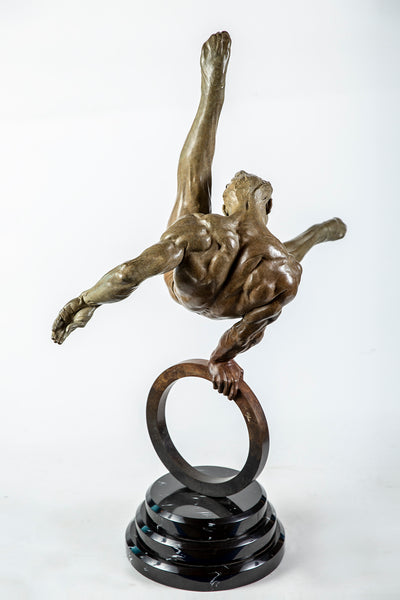 Richard MacDonald Gymnast Flair 1/2 life Fine Art Sculpture Icon - Best offer