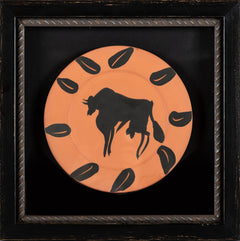 Pable Picasso Taureau, marli aux feuilles (Bull, Rim with Leaves) A.R. 394 1957