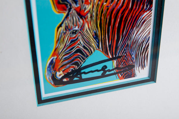 Grevy's Zebra Hand Signed Endangered Specie Gallery Announcement Invitation
