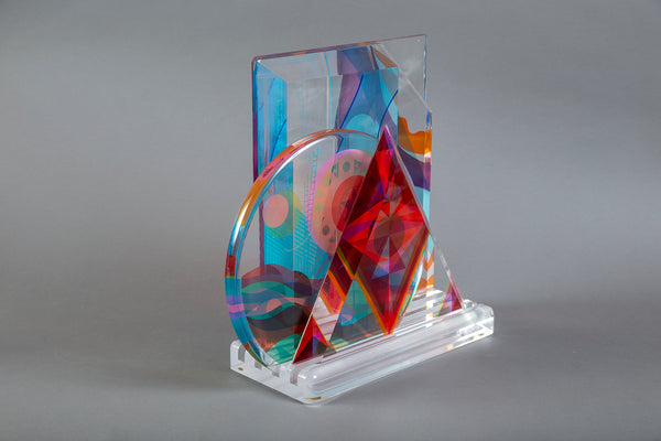 Origina Acrylic Sculpture Signed
