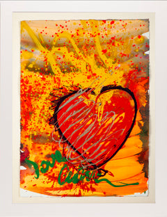 Dale Chihuly Massive Hand Painted Drawing Love Chihuly Glass Pop Art