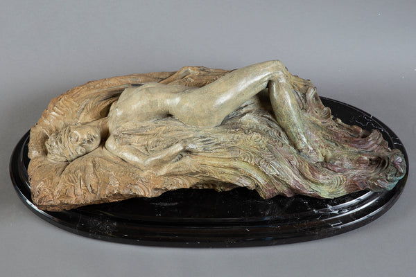 Reclining Nude large 100lb Bronze sculpture Signed Limited