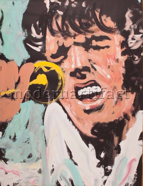 Elvis 68 x 52 Pop Art Performance Original Painting Mint Condition
