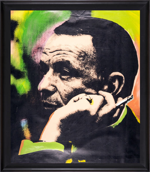Frank Sinatra Blue Eye Warhol Famous Assistant Oil Painting Canvas