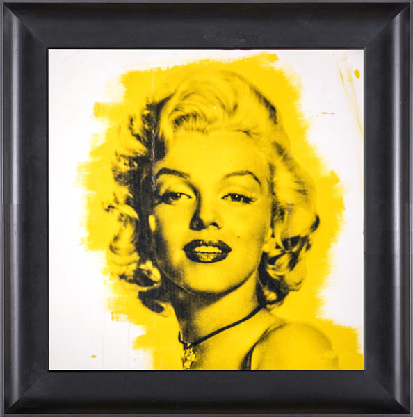 Steve Kaufman Marilyn Monroe Warhol Famous Assistant Oil Painting Canvas 25 x 29