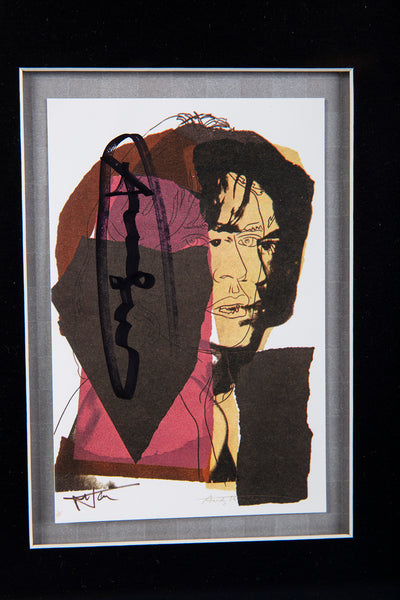Andy Warhol Mick Jagger FS.II.139 Hand Signed Gallery Announcement Invitation