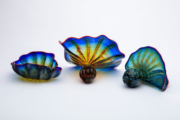 Original 5 Piece Cobalt Persian Set Glass Contemporary Art 35K appraisal