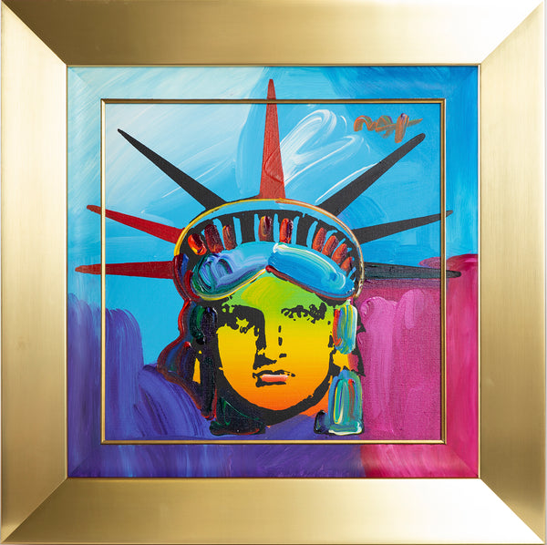 "Large Original Acrylic Painting on Canvas ""Delta"" Statue of Liberty"