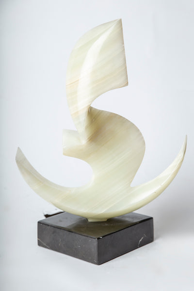 "Rare Onyx Sculpture ""Anchor"" Signed 1/1 Sculpture"