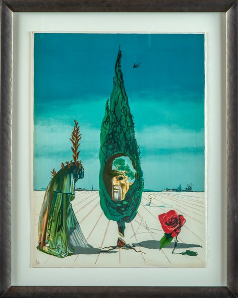 Enigma of The Rose (Death), Contemporary Art Surrealist Lithograph
