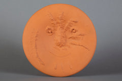 Pable Picasso Visage En Gros Relief Ceramic Plate Limited