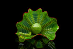 Dale Chihuly Green Persian Set Handblown Glass Contemporary Art