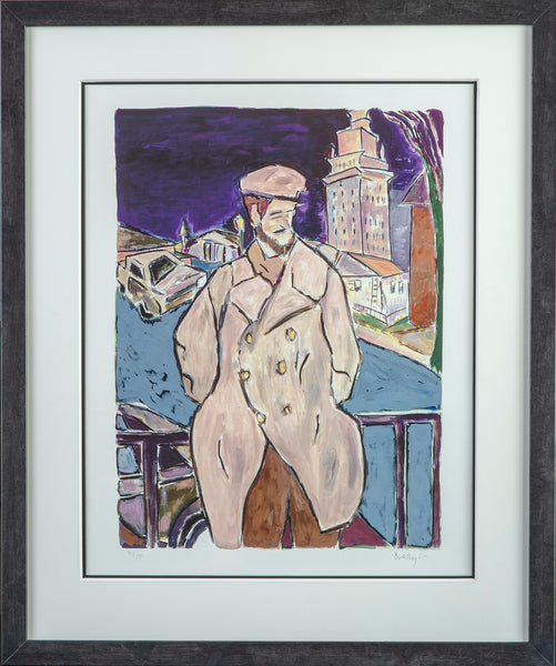 Bob Dylan Man on a Bridge Giclee Print signed - Contemporary Art