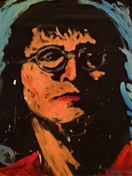 John Lennon 94 Original Painting Museum Quality Beatles 67x53 Signed