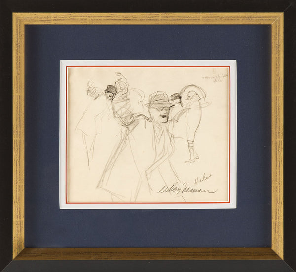 LeRoy Neiman Original Drawing George Halas Chicago Bears Grand Father of the NFL