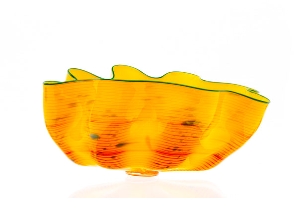 Dale Chihuly Desert Yellow Macchia Handblown Glass Signed Contemporary Art