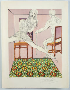 Marianne and the Chevalier — Contemporary Art Surrealist Lithograph