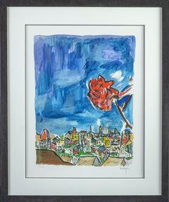 Rose on a Hillside Giclee Print - signed Contemporary Art