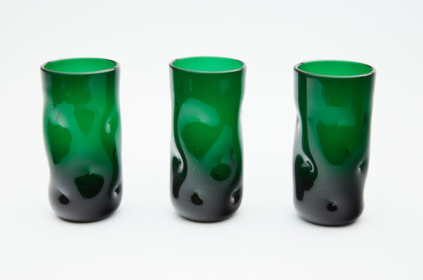 Dale Chihuly 1970s Green Glass set of 6 original handblown contemporary art, $10,800 appraisal